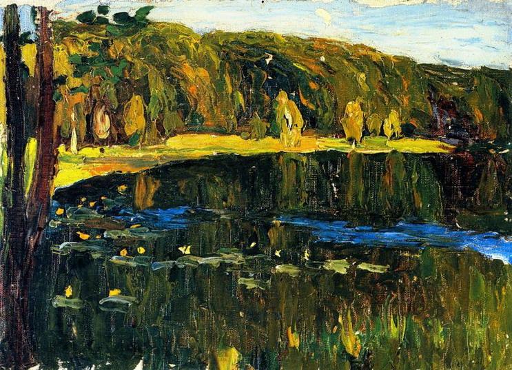 Ахтырка - Темное озеро (1901) Мюнхен, Германия. Городская галерея в Ленбаххаузе