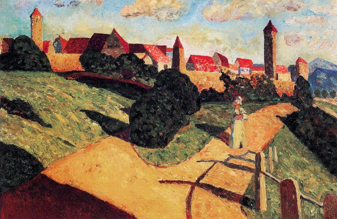 Старый город II, 1902, Холст, масло, 52.0 × 78.5 см, Париж, Национальный музей современного искусства, Центр Жоржа Помпиду
