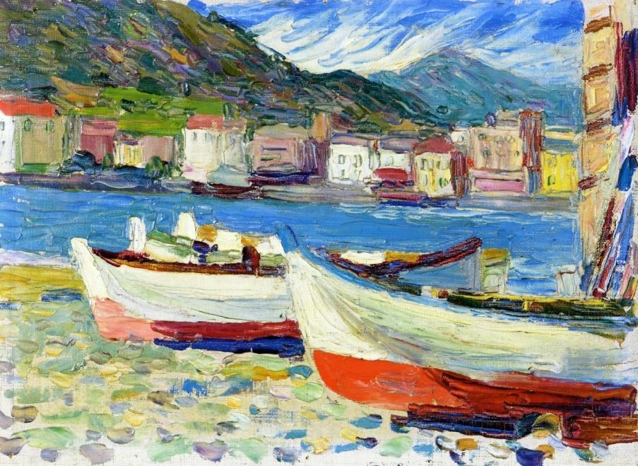 """Лодки. Рапалло"" Василий Кандинский (1905)"