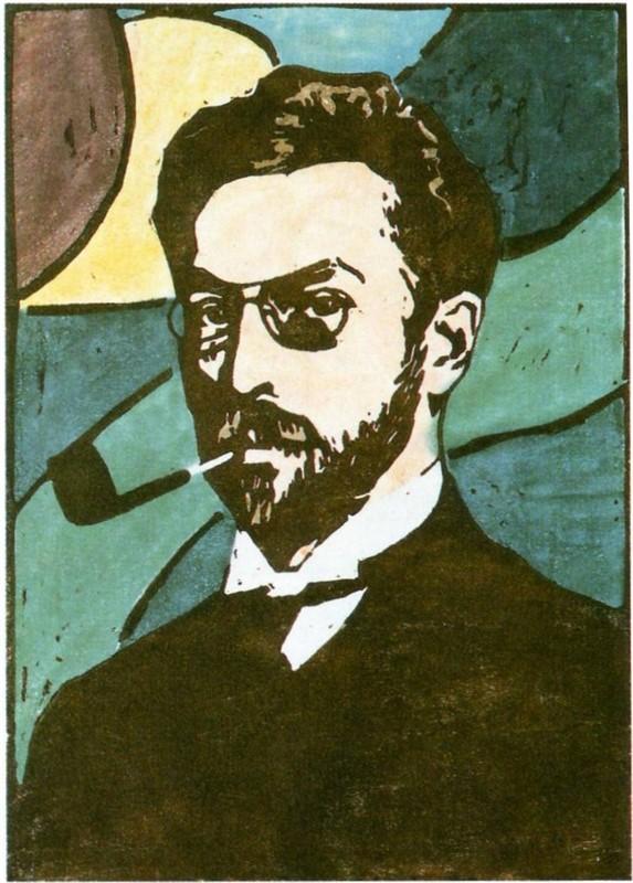 """""""Портрет Василия Кандинского"""" Габриэле Мюнтер (1906), 24 × 17 см"""