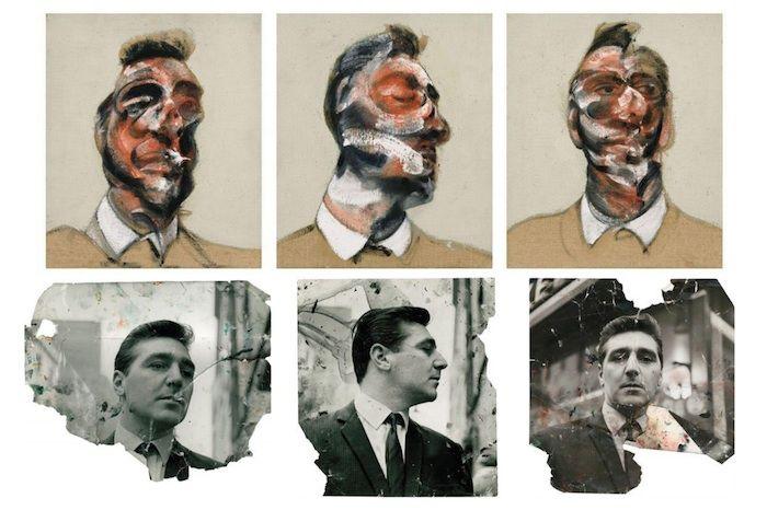 картина Фрэнсиса Бэкона (1963) и фотографии Дайера, снятые Джоном Дикином.