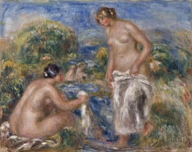 Купальщицы Пьер Огюст Ренуар, 1916, 40.5×51 см