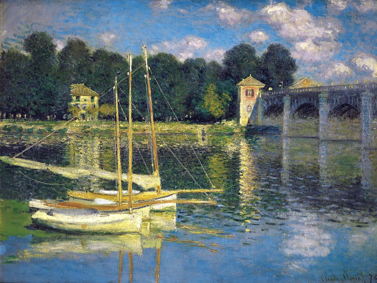 Мост в Аржантёе 1874 г.60x80см холст / масло Музей Орсе, Париж, Франция