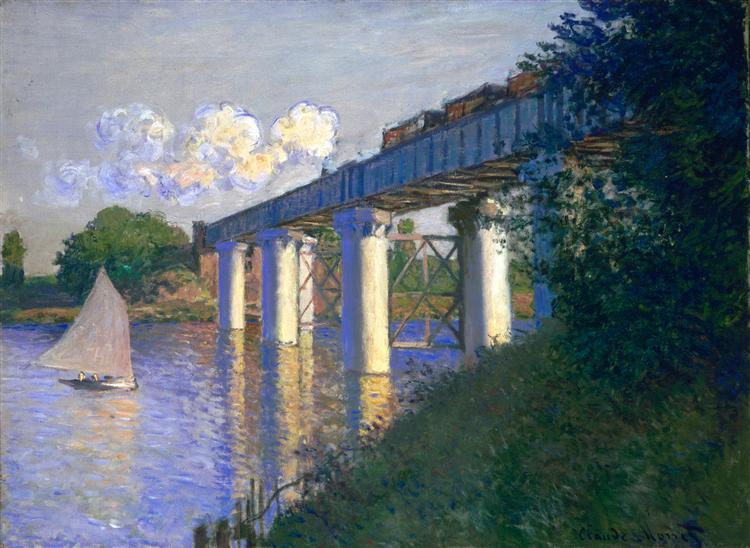 Железнодорожный мост в Аржантёе Клод МонеДата: 1874