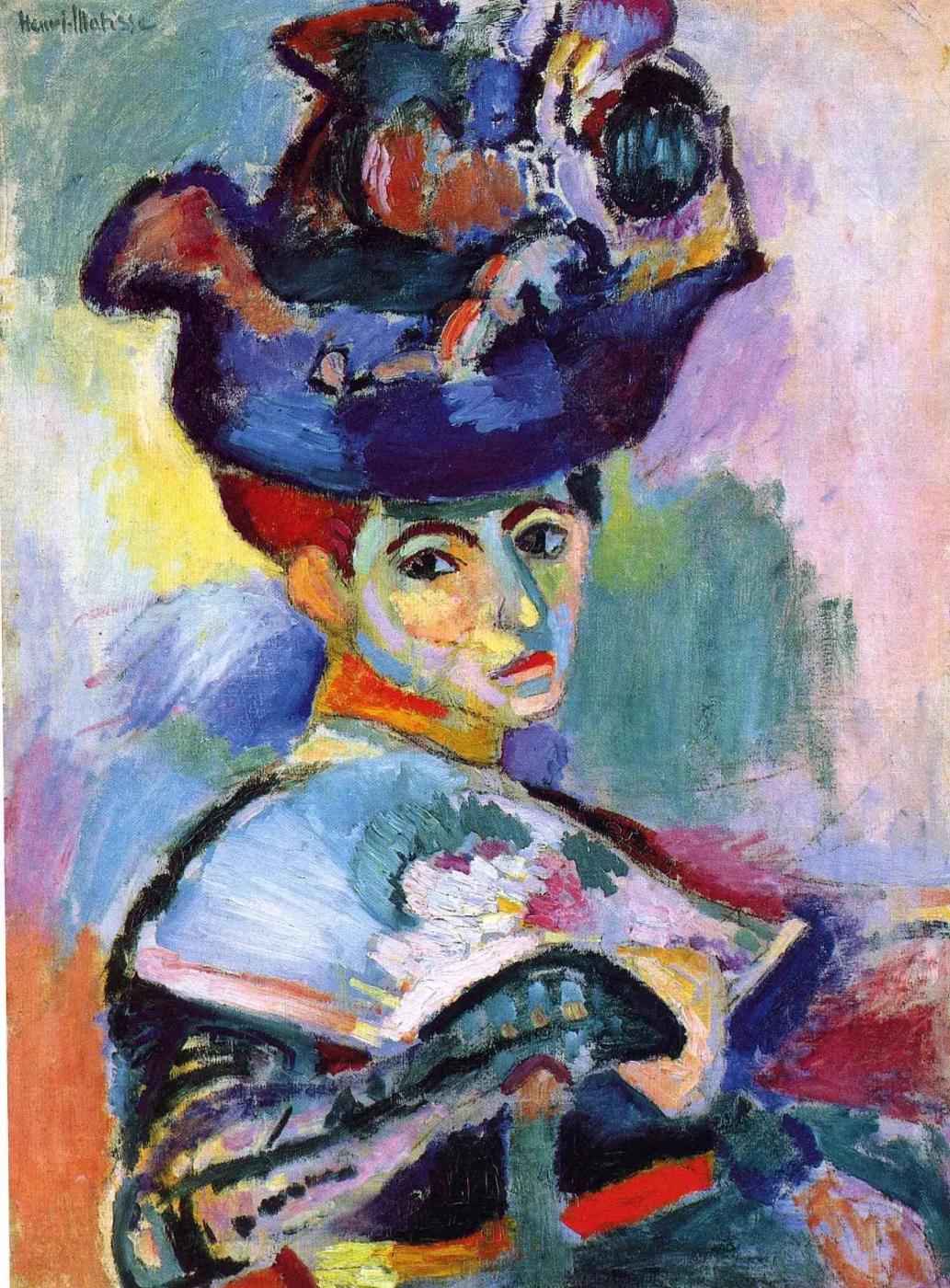 Женщина в шляпе Анри Матисс, 1905, 24×31 см Музей современного искусства, Сан-Франциско