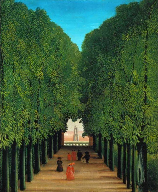 Анри Руссо, «Аллея в парке Сен-Клу» 1908