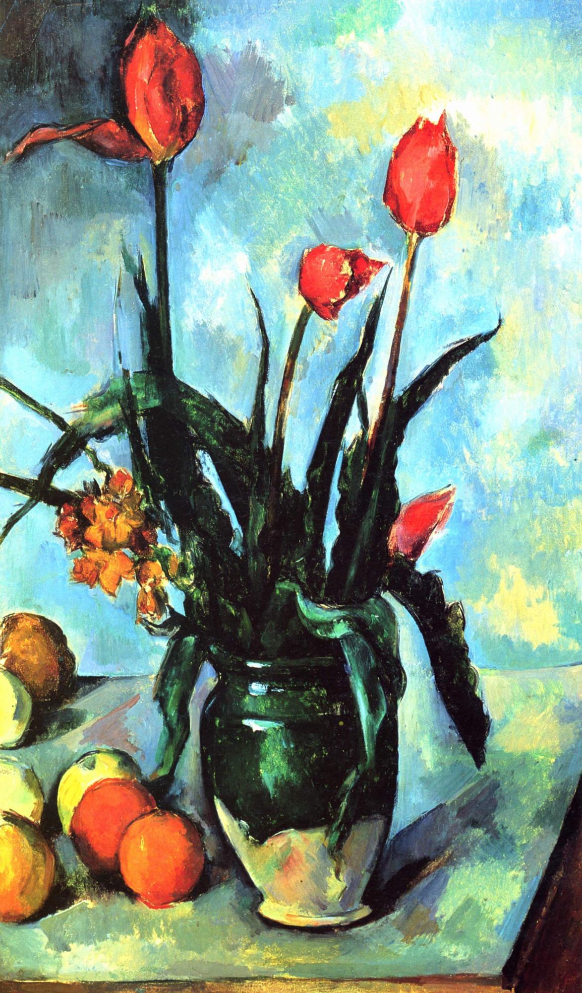 Поль Сезанн, «Тюльпаны в вазе» 1892 Norton Simon Museum, Pasadena, CA, USA