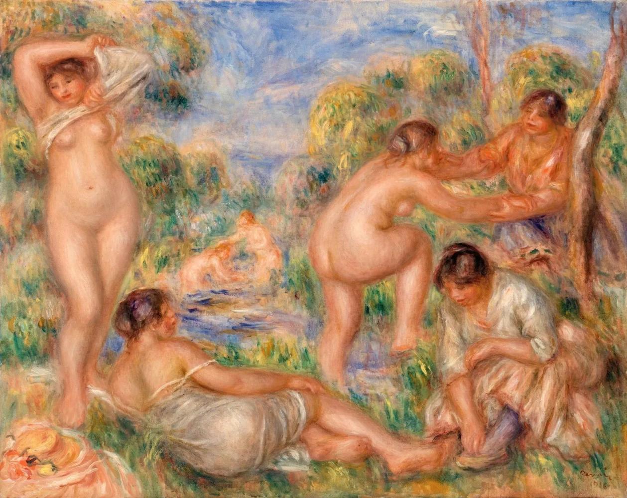 Купальщицы Пьер Огюст Ренуар, 1916, 73.5×92.5 см