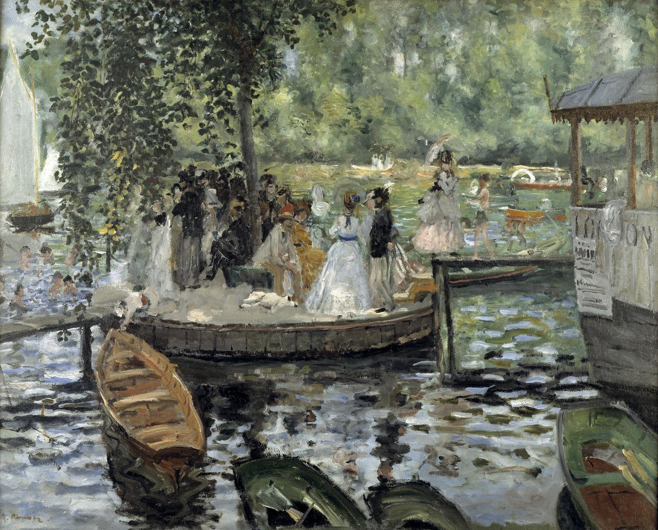 Пьер Огюст Ренуар Лягушатник. 1869 Холст, масло. 66 × 81 см Национальный музей Швеции, Стокгольм