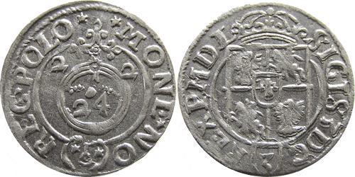 Полторак (1,5 гроша),  Королевство Польское,  Сигизмунд III Ваза,  1622 год