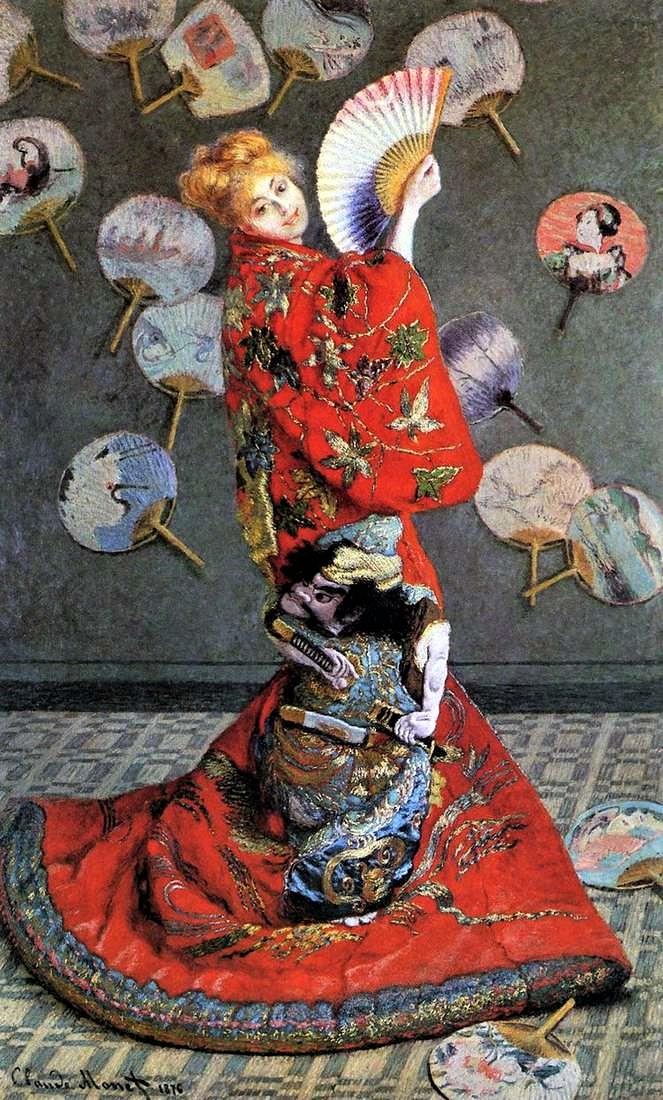 Японка (Камилла Моне в японском костюме)Клод Моне, 1876, Музей изящных искусств, 142,3 x 231,8 см