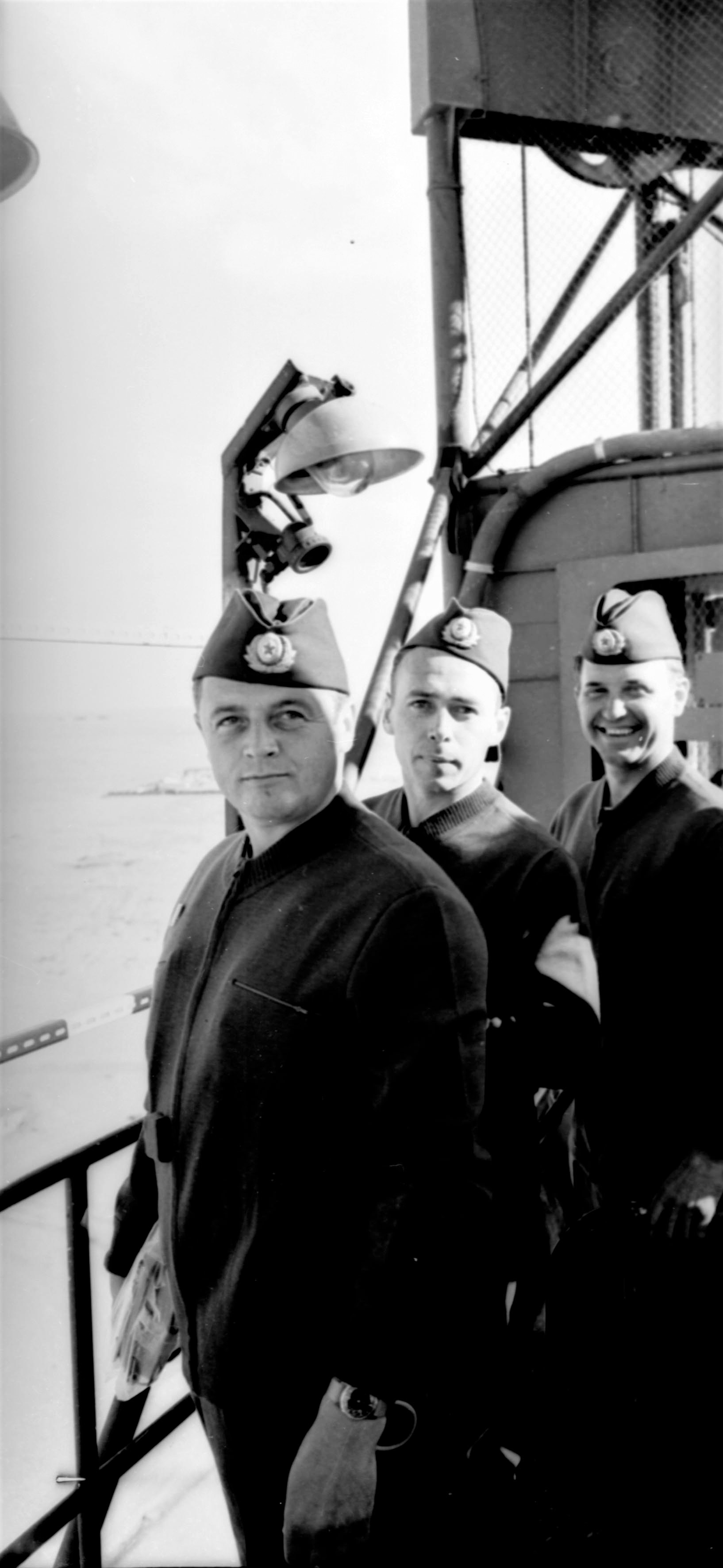 космонавты Георгий Тимофеевич Добровольский, Владислав Николаевич Волкова и Виктор Иванович Пацаев