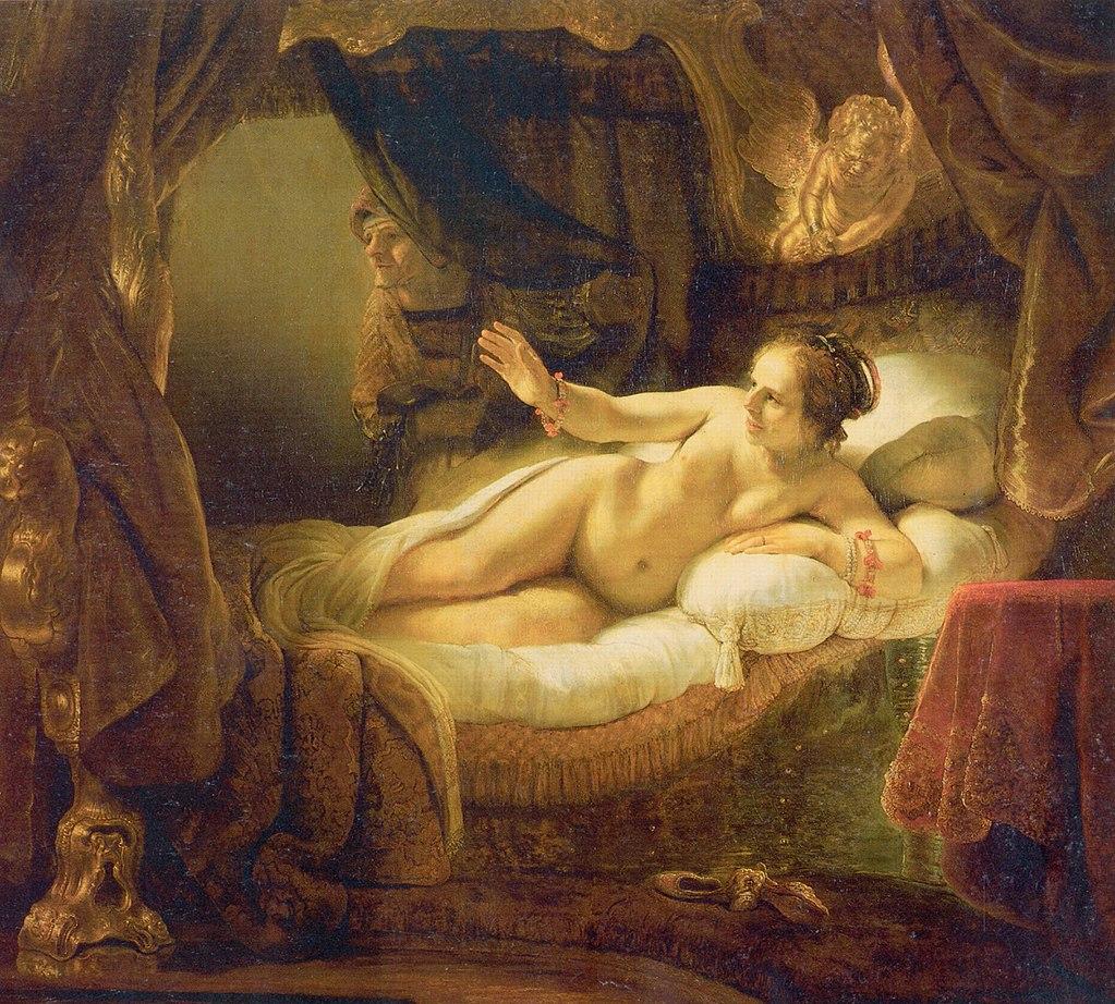 Рембрандт Даная. 1636—1647 Холст, масло. 185 × 203 см Государственный Эрмитаж, Санкт-Петербург