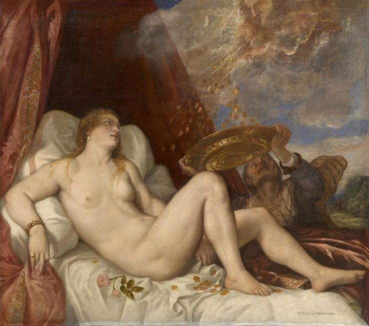 Тициан. Даная 1564 (Музей истории искусств, Вена)