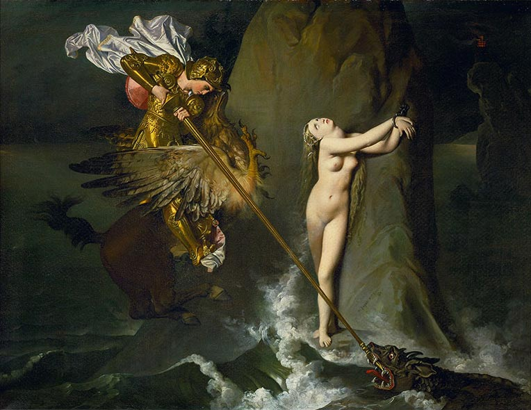 Роже спасает Анжелику Жан Огюст Доминик Энгр, 1819, 147×190 см Лувр, Париж