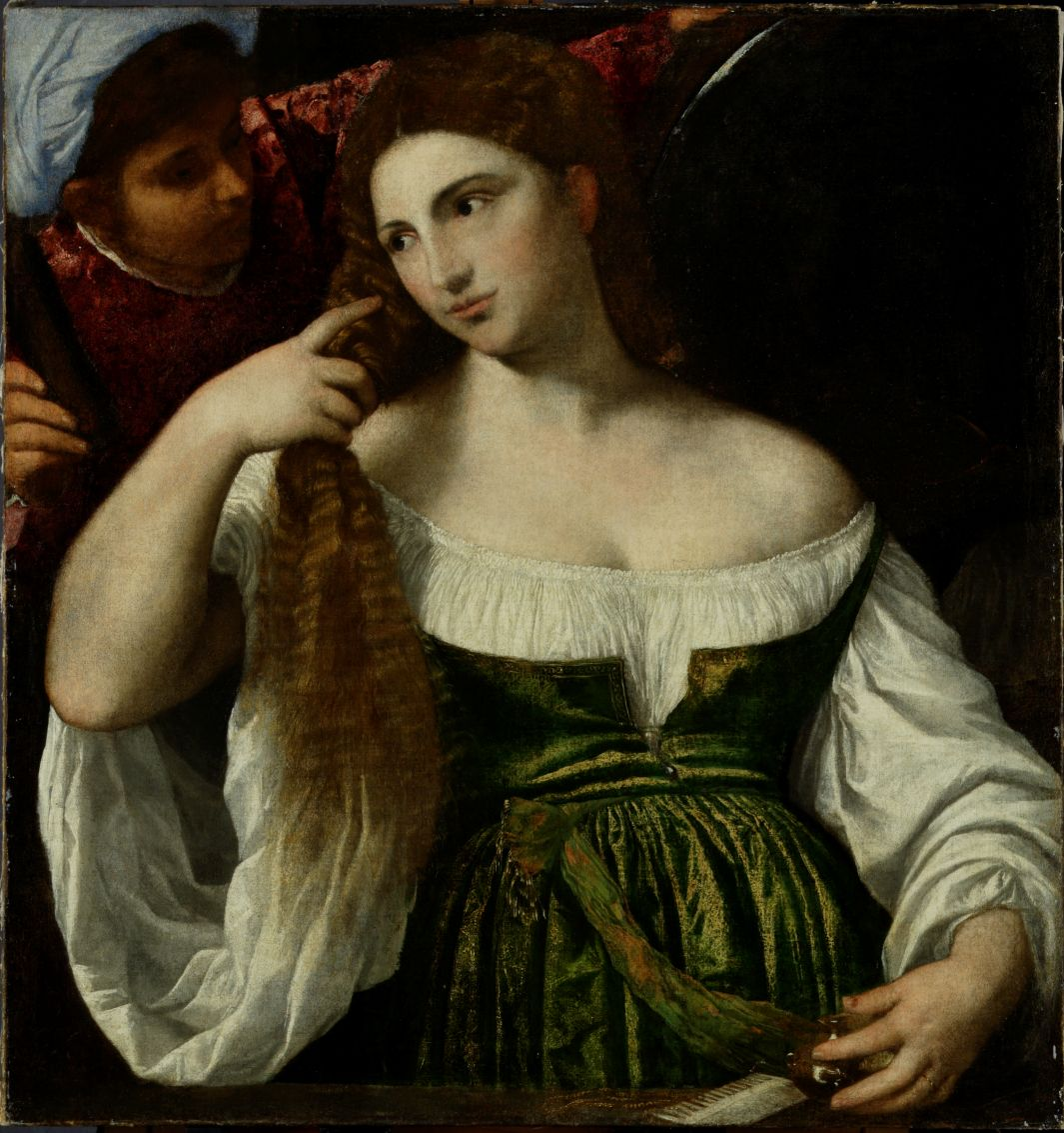 Тициан «Туалет молодой женщины» 1512-1515г.г.83 х 79 см Картинная галерея Пражского Града