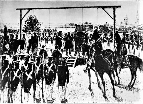 Казнь пятерых декабристов 13 июля 1826 года Рисунок Д. Кардовского 1925 г