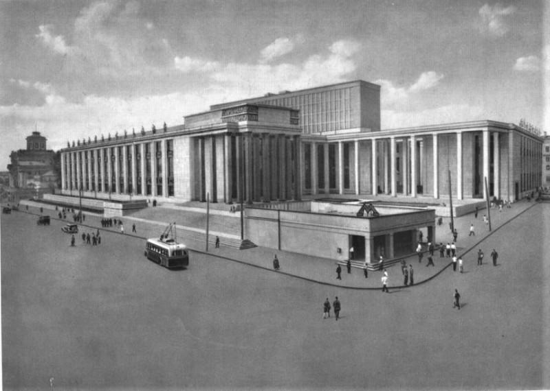 Москва. Государственная библиотека имени В.И. Ленина. В. Щуко, В. Гелъфрейх, 1928—1941 гг
