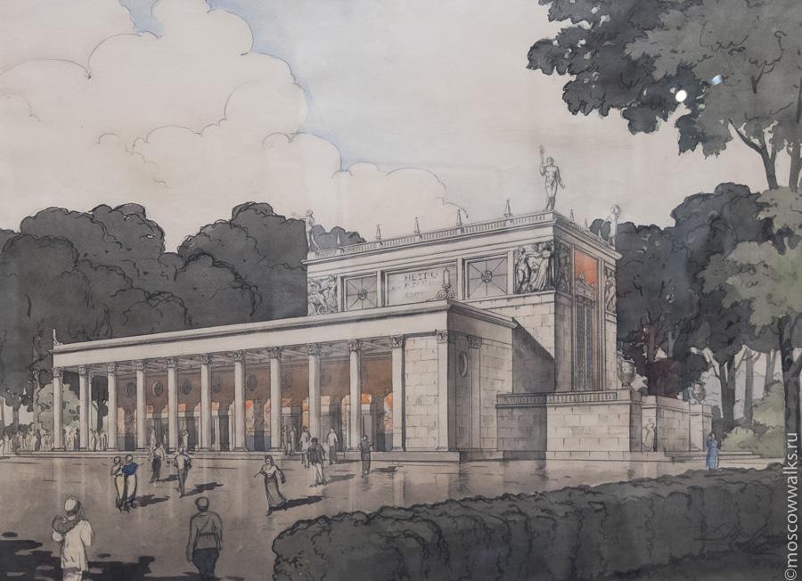 Проект станции и наземного вестибюля «Динамо», 1936-1937 гг.