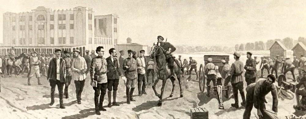 Подготовка к обороне Самары от белочехов