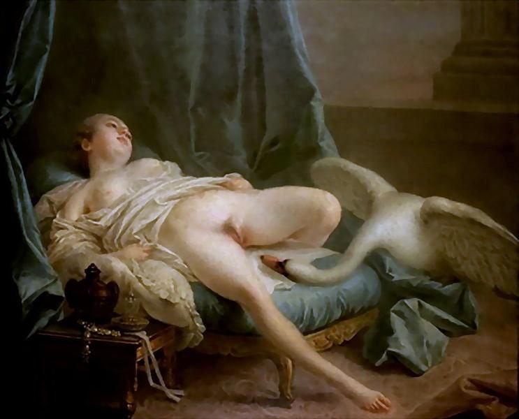 Картина приписывается Франсуа Буше (1703–1770) Леда и лебедь около 1740 находится в Частной коллекции