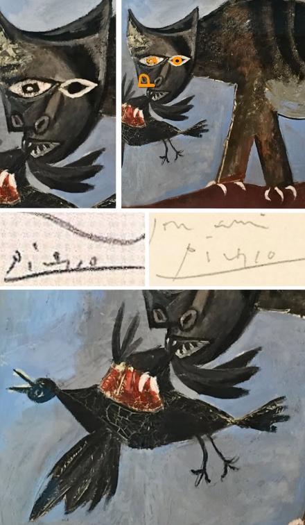 Кошка схватившая птицу