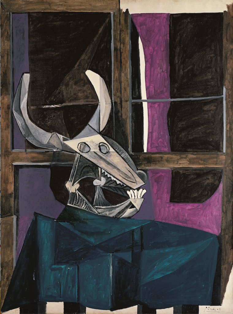 Пабло Пикассо, «Натюрморт с черепом быка», 5 апреля 1942 года.Kunstammlung Nordrhein-Westfalen, Дюссельдорф © Succession Picasso 2019