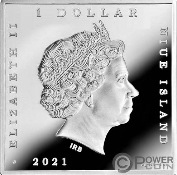монета Ниуэ, номинальной стоимостью – 1 новозеландский доллар, из драгоценного металла - серебра 999 пробы, пруф, цифровая печать, весом – 31.1 гр., размеры – 40,00 × 40,00 мм.