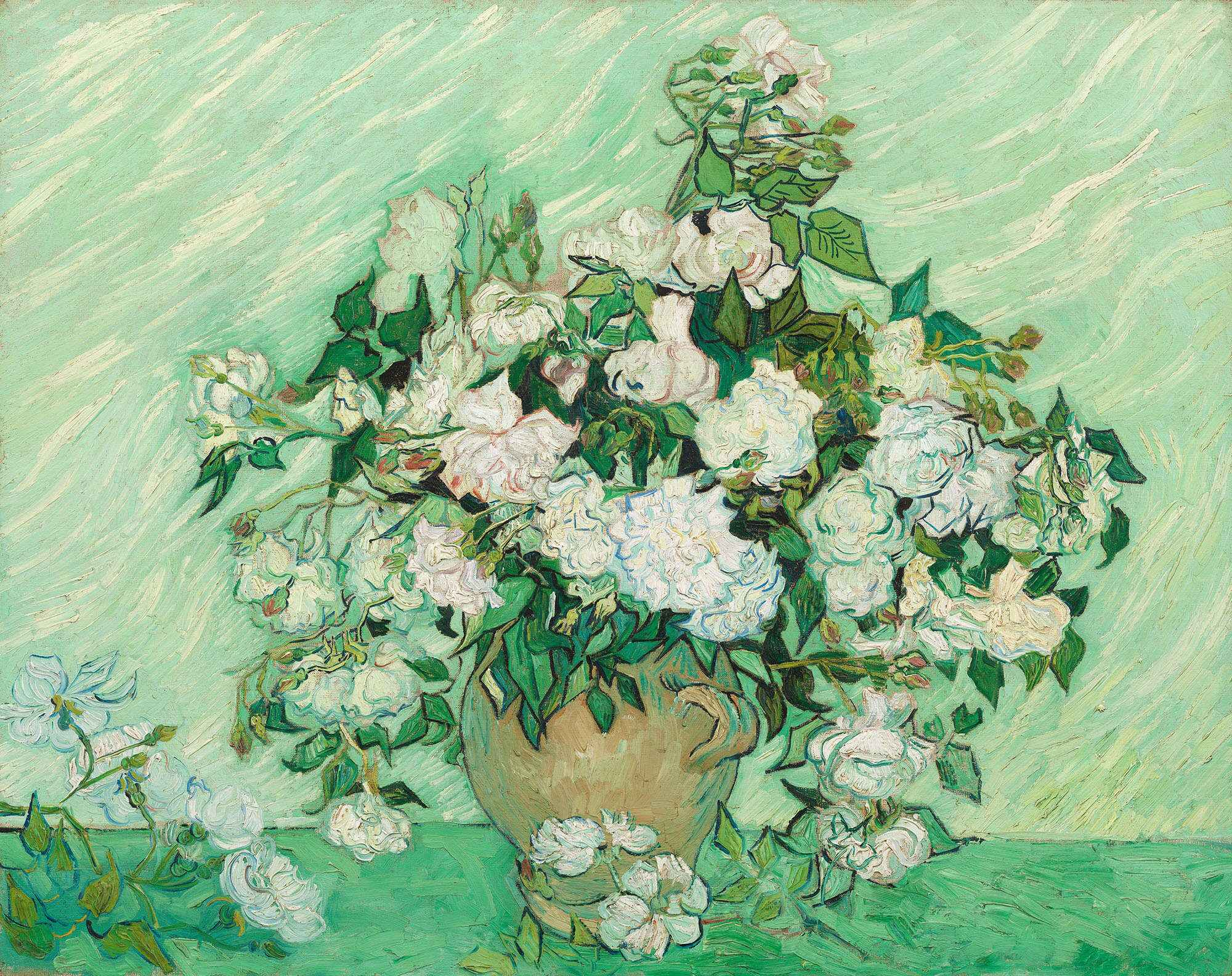 Винсента Ван Гог, Розы, Национальная художественная галерея, Вашингтон, округ Колумбия
