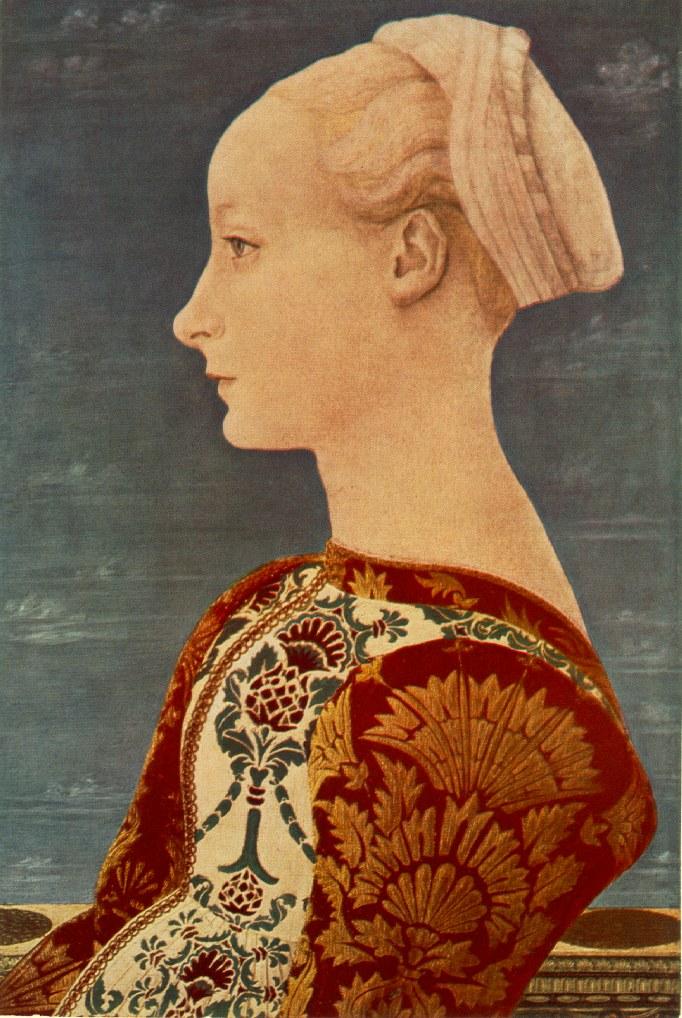 Портрет молодой женщины. Ок. 1465г . Доменико Венециано. Картинная галерея, Берлин