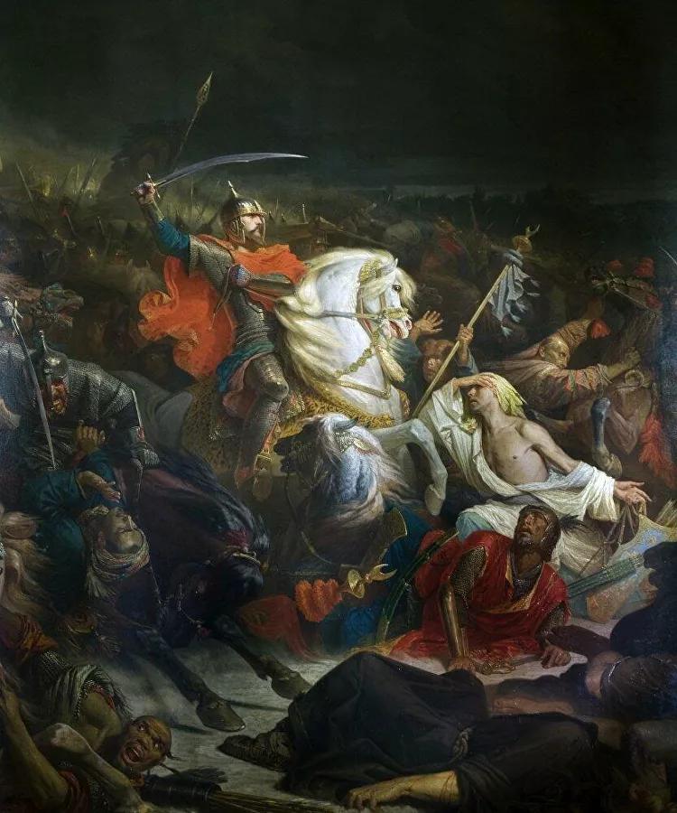 Адольф Ивон. «Куликовская битва». 1859 год