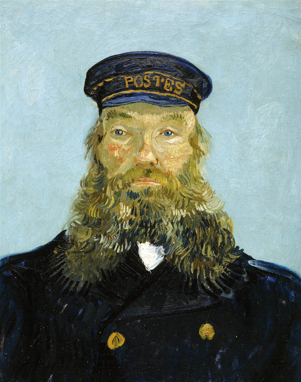 Портрет почтальона Жозефа Рулена, вторая версия, начало августа 1888 года, Детройтский институт искусств