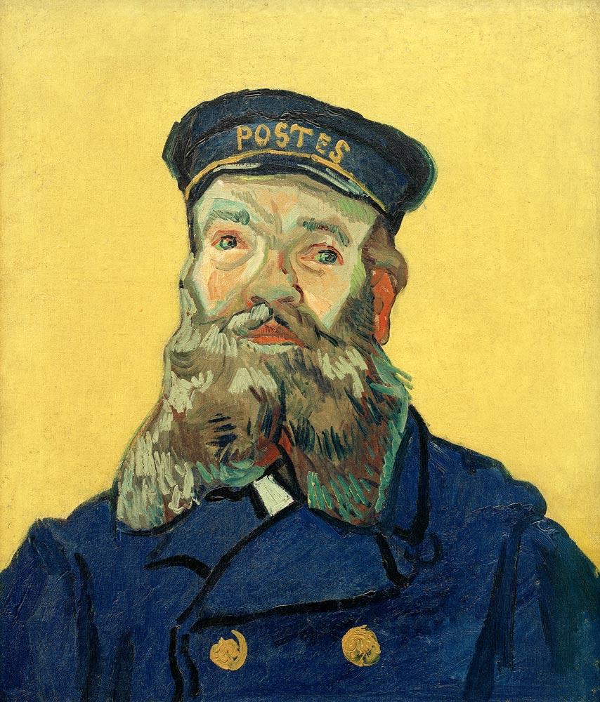 Ван Гог / Почтальон Жозеф Рулен / 1888