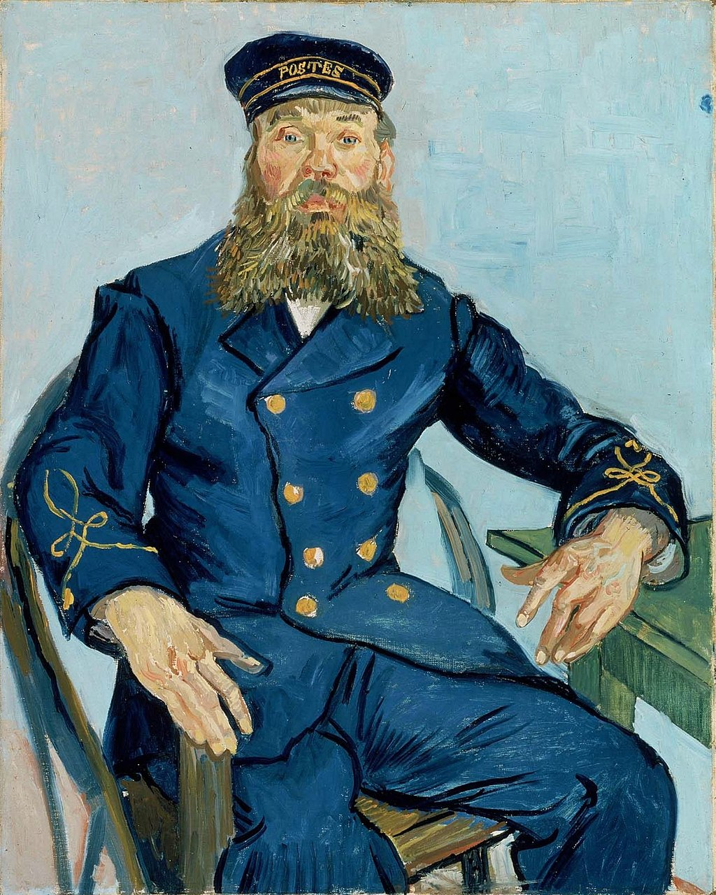 Почтальон Джозеф Рулен, 1888 год,  Музей изящных искусств, Бостон.