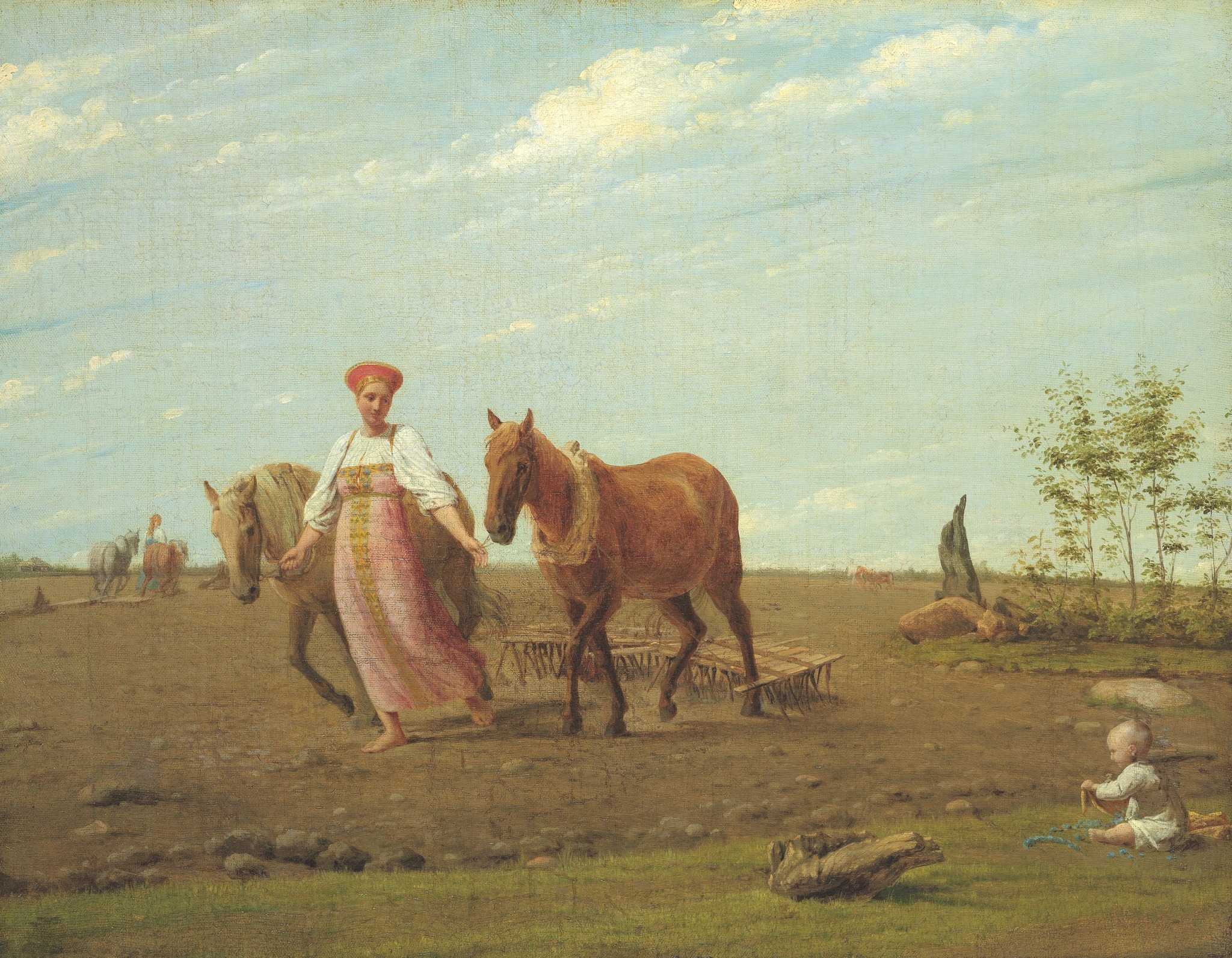 На пашне. Весна. Середина 1820-х. Государственная Третьяковская галерея