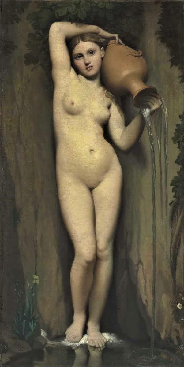 Жан Огюст Доминика Энгр «Источник» 1856 Лувр, Музей Орсе Размеры: 163 x 80 см