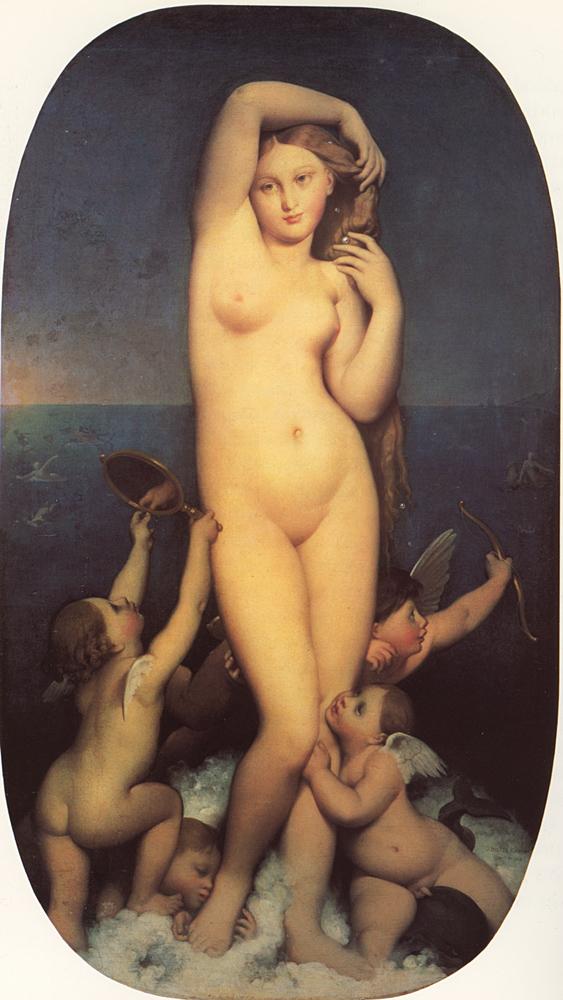 Жан Огюст Доминик ЭнгрВенера Анадиомена. 1848Vénus anadyomèneХолст, масло. 163 × 92 смМузей Конде, Шантийи