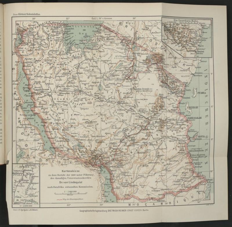"""Карта из книги """"Германская Восточная Африка как место расселения европейцев с учетом Британской Восточной Африки и Ньяссаленда"""" 1912"""