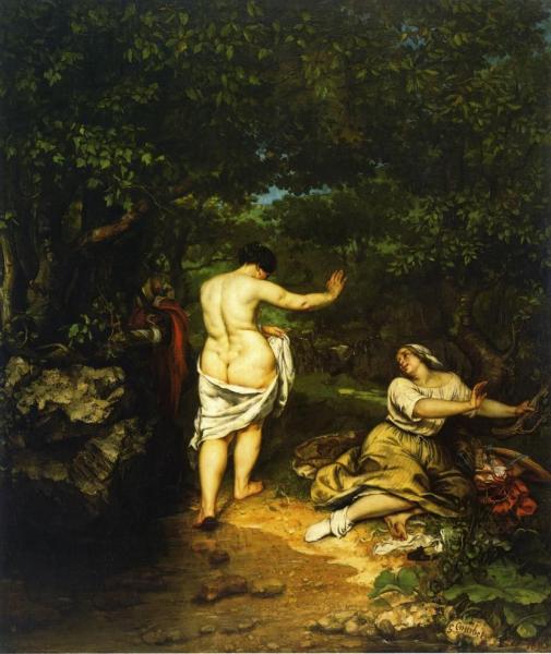 Купальщицы Гюстав Курбе 1853, 193 × 227 см