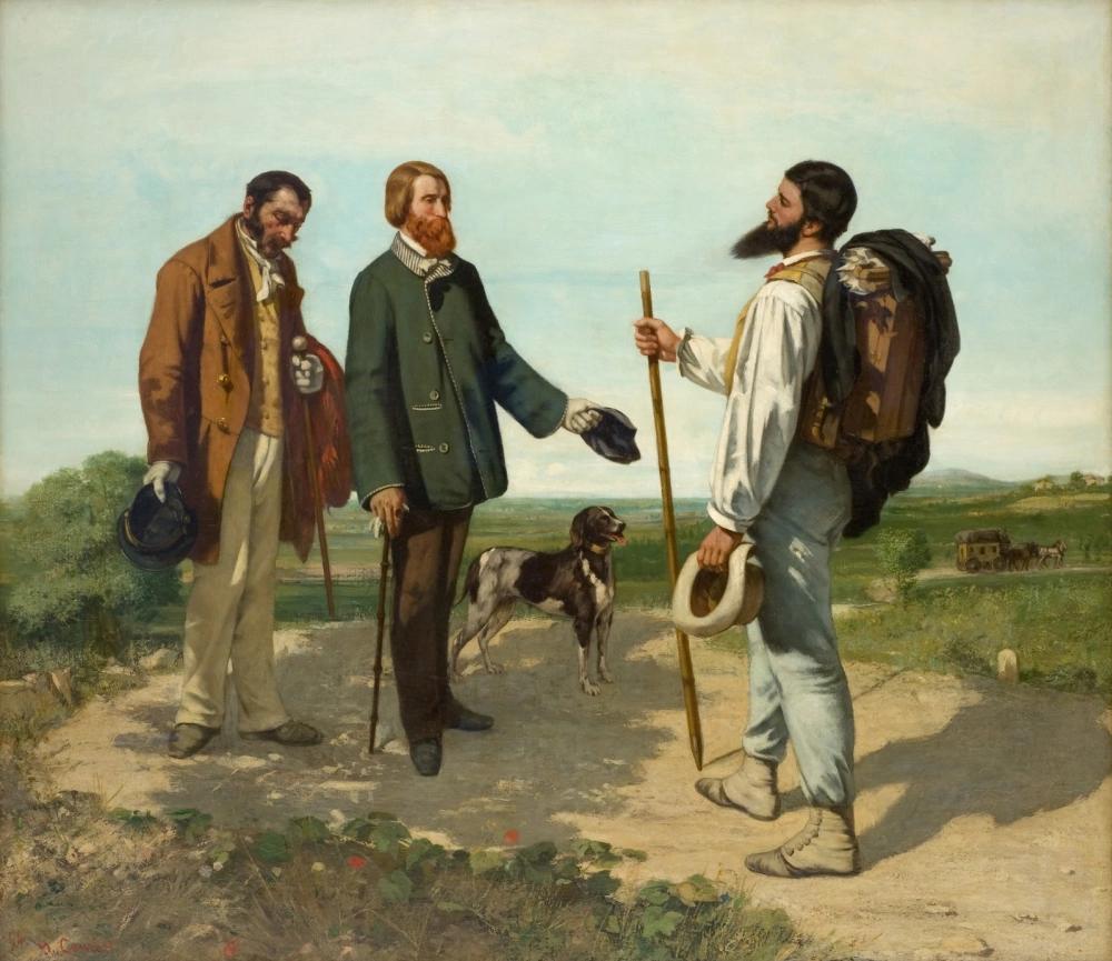 «Здравствуйте, господин Курбе» Гюстав Курбе 1854, 129 × 149 см