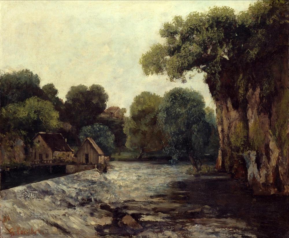 «Мельничный пруд» Гюстав Курбе 1866, 64 × 54 см