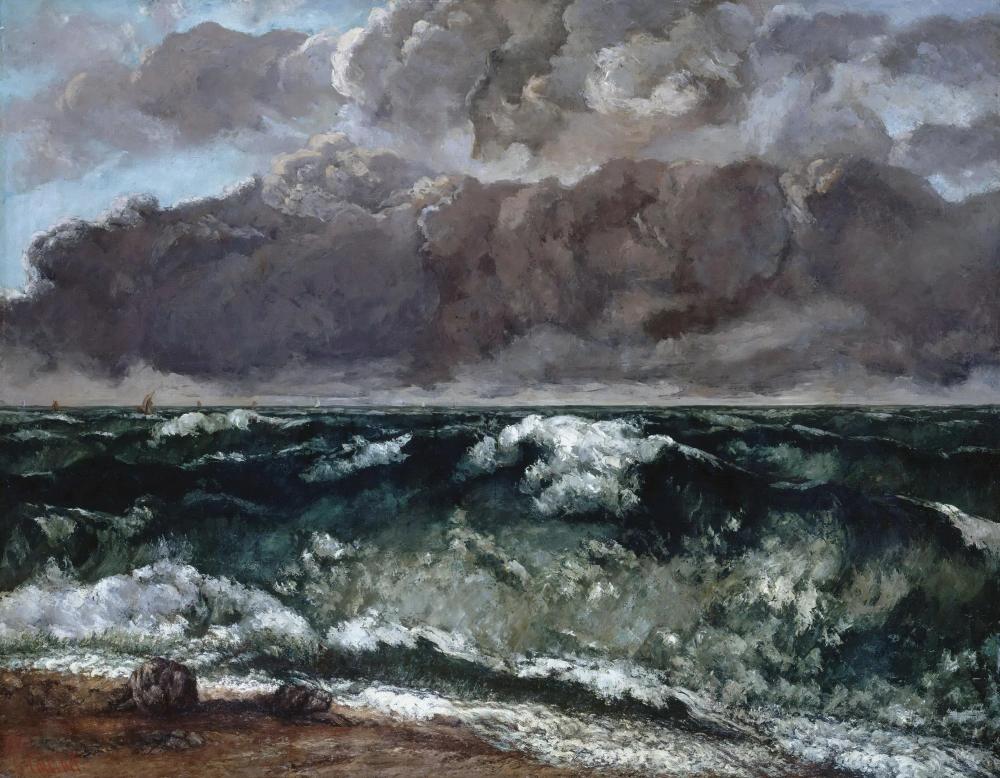 «Волна» Гюстав Курбе 1870, 144 × 112 см