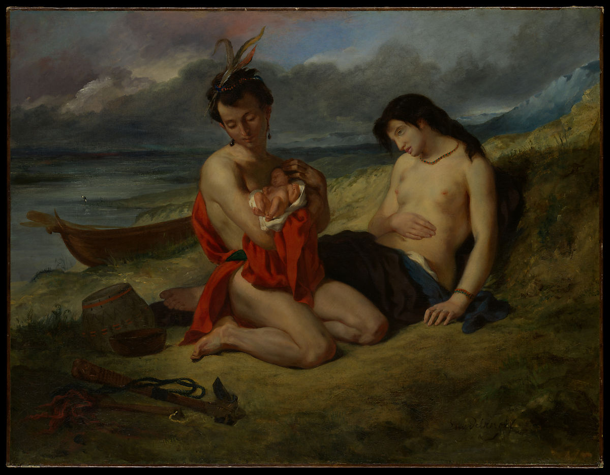 «Натчез» 1823–24 и 1835 г.г. Эжен Делакруа