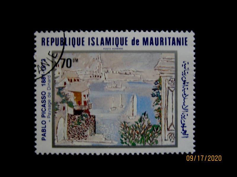 Марка 1981-06-29 Мавритания (Исламская Республика Мавритания) номиналом: 70 кхумов (um)—  «Пейзажи динара» Пабло Пикассо Mi:MR 724, Sn:MR C210, Yt:MR PA207, Sg:MR 698