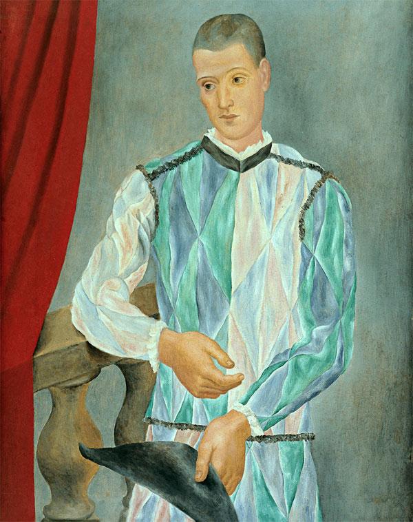«Арлекин» 1917 Пабло Пикассо.