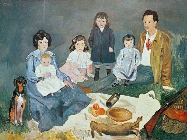 """""""Семейный обед Солер на траве"""" 1903 Пабло Пикассо."""