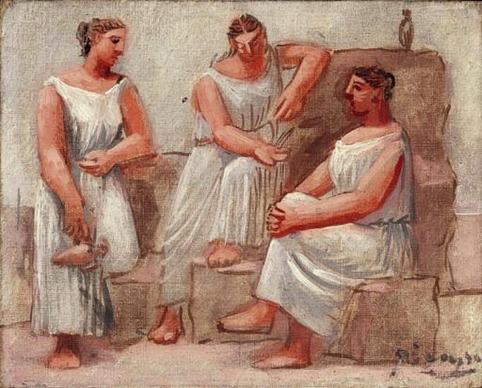 «Три женщины у фонтана» 1921 Пабло Пикассо.
