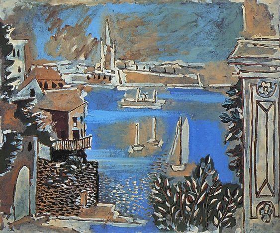 «Пейзажи динара» 1922 Пабло Пикассо.