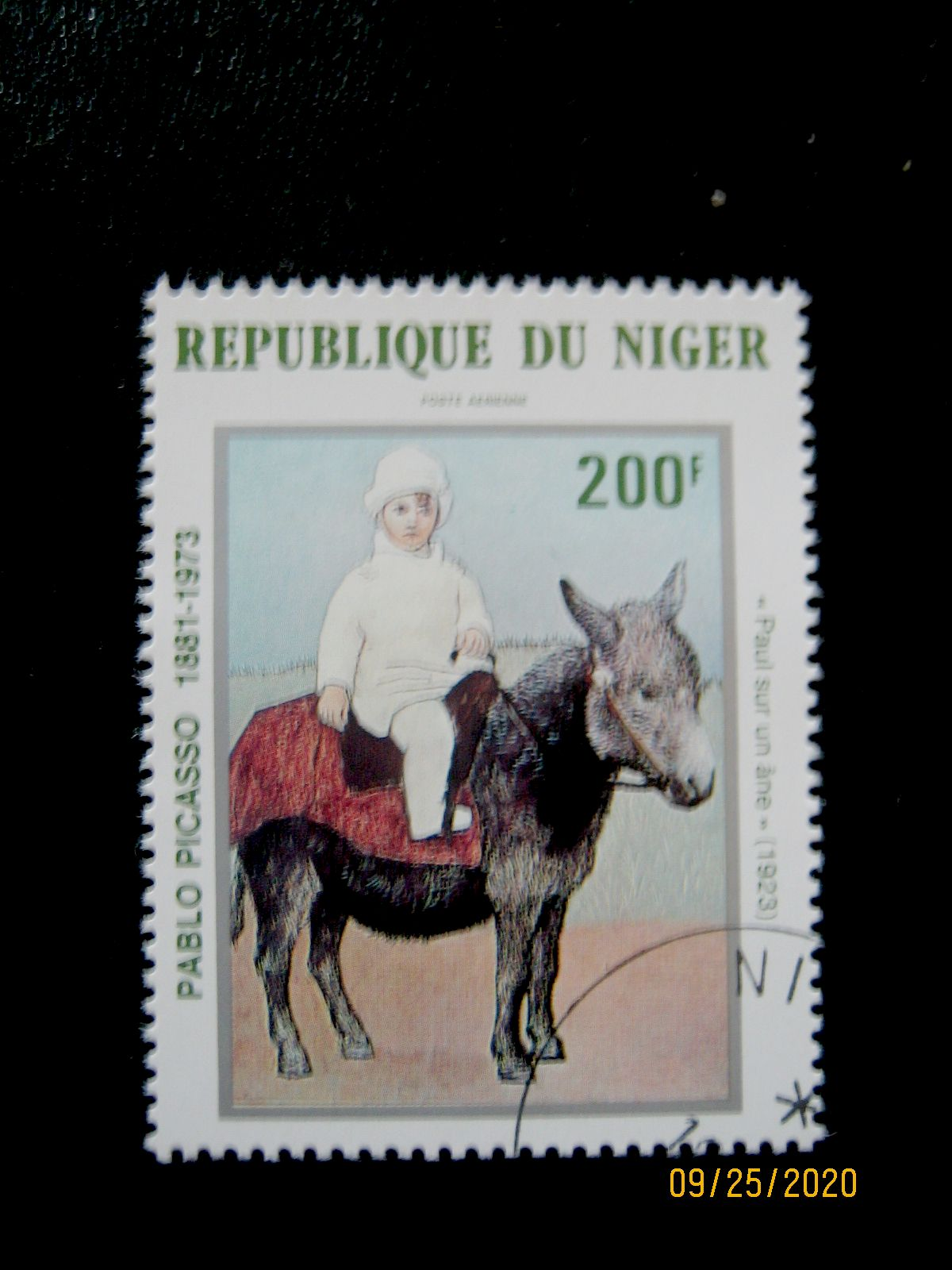 Марка - 200 фр. —   «Пауло на ослике» Пабло Пикассо (1923) Нигер