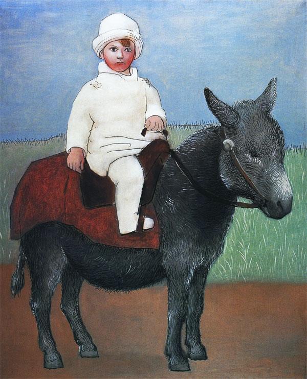 «Пауло на ослике» Пабло Пикассо (1923) Местонахождение: Spain, Madrid, Fundación Almine y Bernard Ruiz-Picasso para el Arte (FABA)